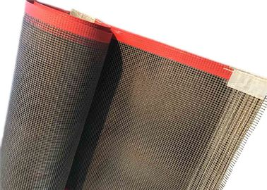 10 × 10 Mesh PTFE Teflon Conveyor Belt Dilapisi Fiberglass Red Edge